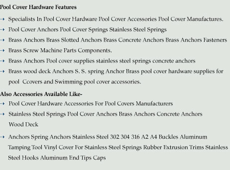 Pool cover Anchors