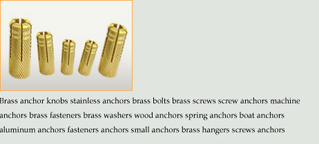 Brass sleeve anchors